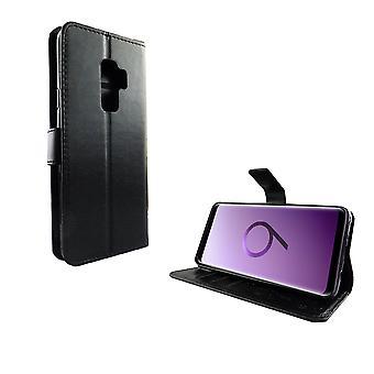 Samsung Galaxy S9+ Plus Handy-Hülle Schutz-Tasche Cover Flip-Case Kartenfach Schwarz