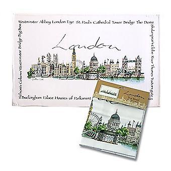 London Landmarks 100% cotton tea towel (ti)