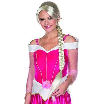 エラ女性かつら weißblond Seitenscheoitel 長いひだカーニバル プリンセス