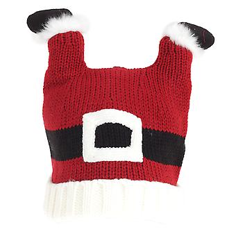 Adults Unisex Christmas Santa Feet Knitted Hat