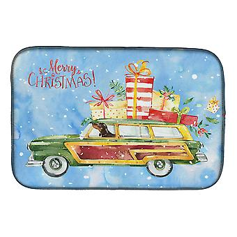 Carolines Treasures  CK2443DDM Merry Christmas Dachshund Dish Drying Mat