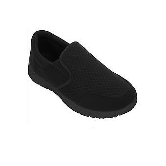 Mens contraste respirant Slip On marche Sport Gym formateurs des chaussures confortables