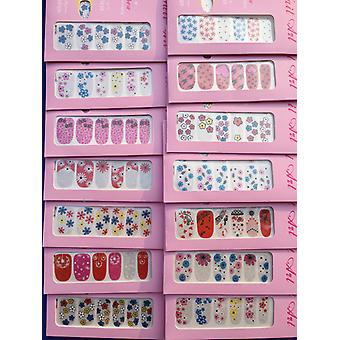 Monalisa Nail Polish Appliques Full Nail Art Designs Sticker (10 sets)