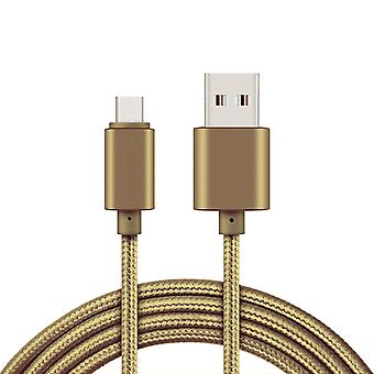 2 m USB Type-C cable for charging and data transfer-Gold