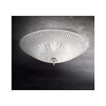 Ideal Lux Transparent Glass Alabaster Style Shell Flush Ceiling Light