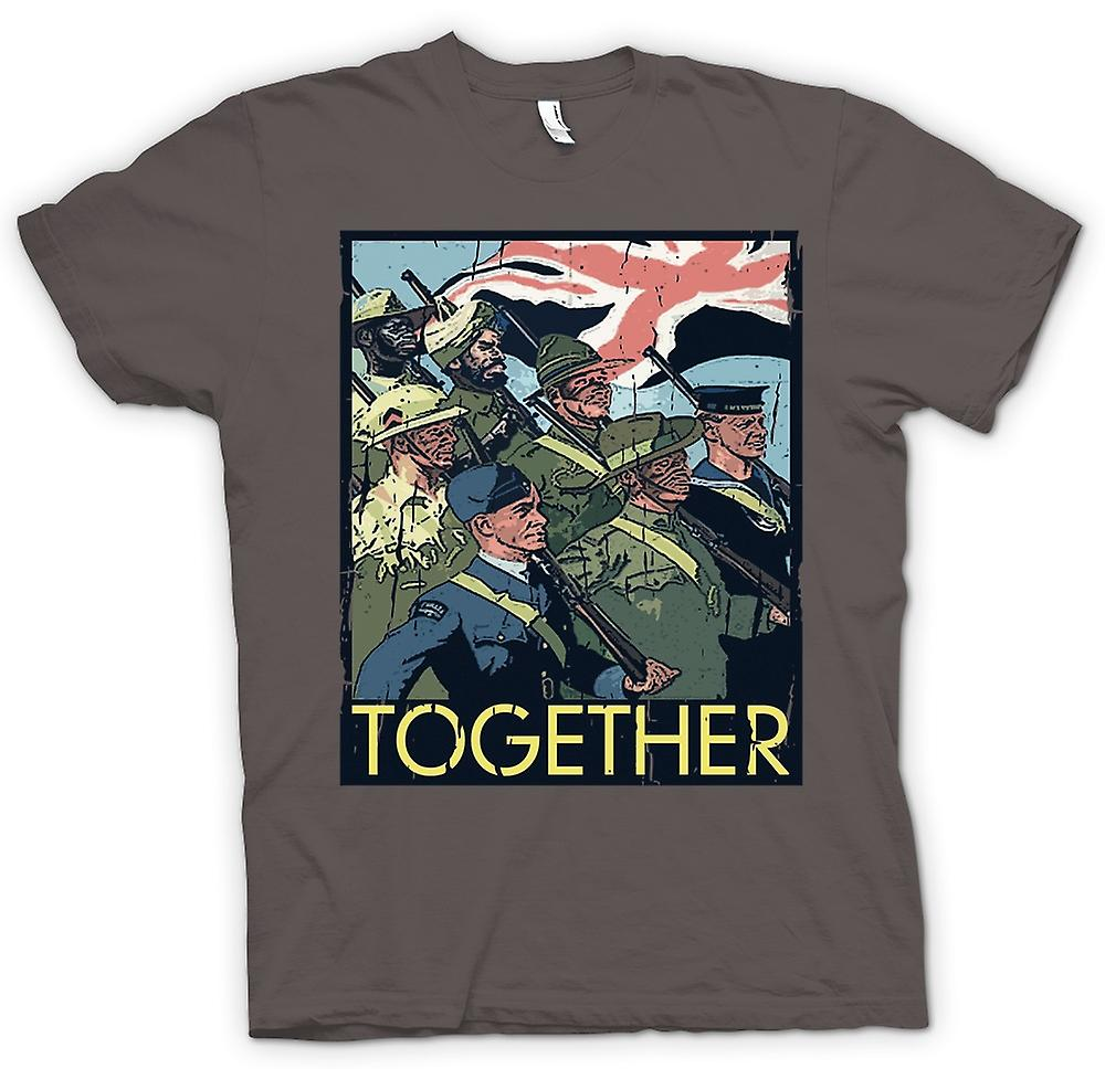 Mens T-shirt - Together - WW2-Commonwealth-Truppen - Weltkrieg