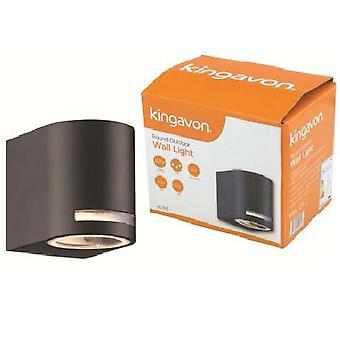 Kingavon runde udendørs væg lys IP44 GU10 sort
