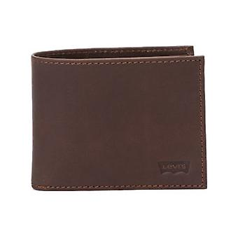Levis Dark Brown Casual Classics Hunte Batwing Leather Bifold Wallet