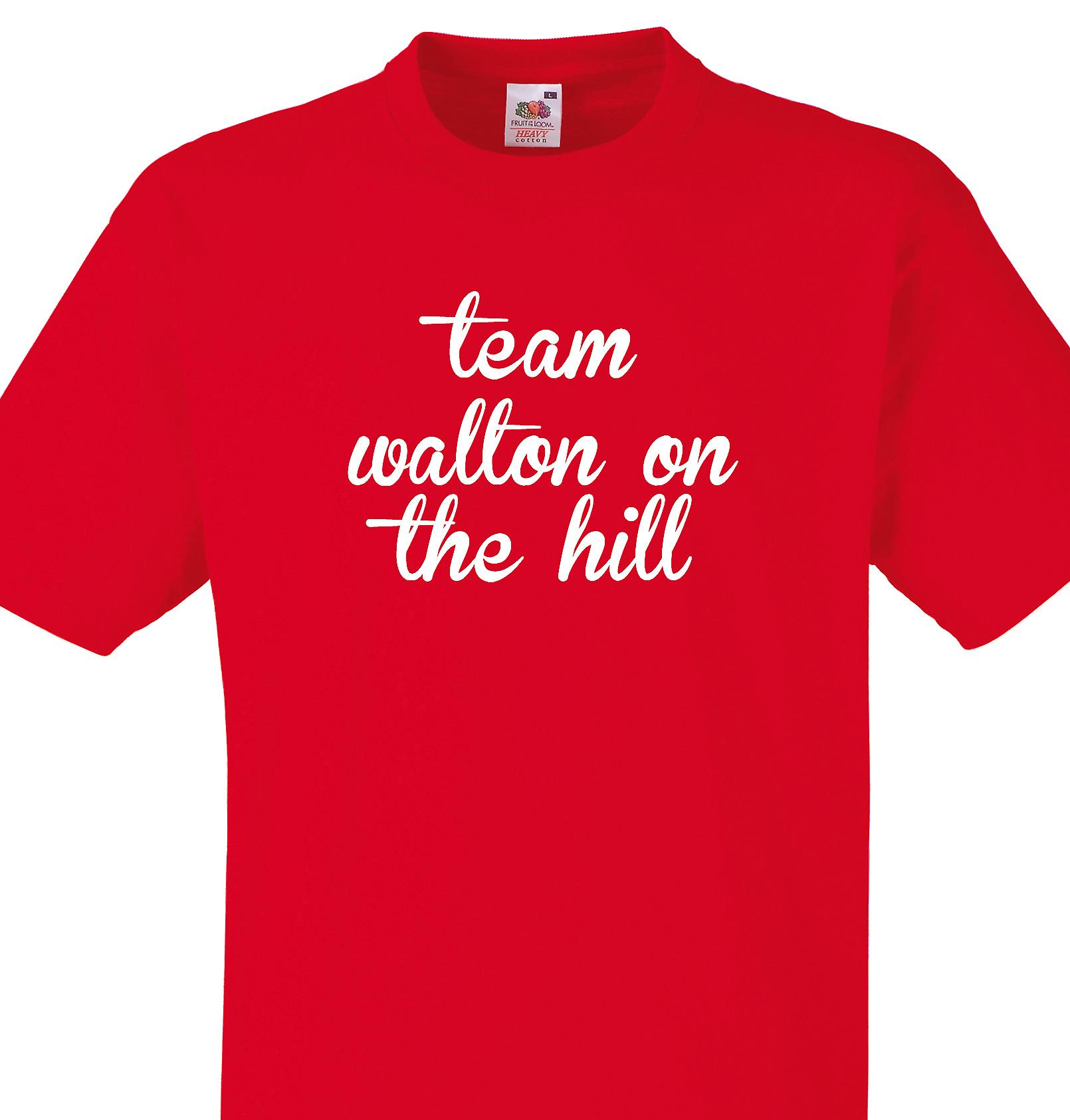 Team Walton on the hill Red T shirt