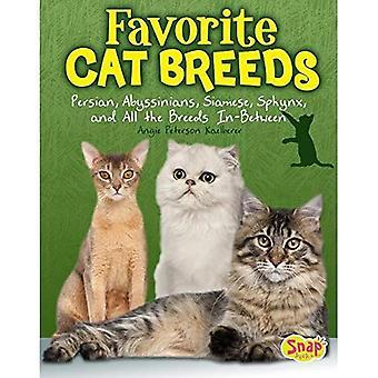 Raças do gato favorito: Persas, Abyssinians, siameses, Sphynx e todos no meio de raças (regra de gatos!)