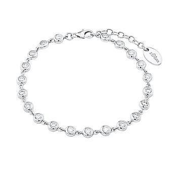 s.Oliver jewel ladies Bangle silver cubic zirconia 2024229