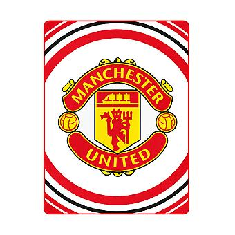 Manchester United Pulse Felt 125 x 150 cm fleece blanket
