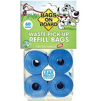 Simple Solution Bags On Board Dog Poo Refill Rolls (Pack Of 4)