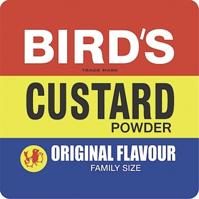 Birds Custard Label drinks mat / coaster   (hb)