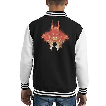 Mijn held Academia Bonu silhouet Kid's Varsity Jacket