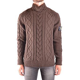 Stone Island Brown Wool Sweater