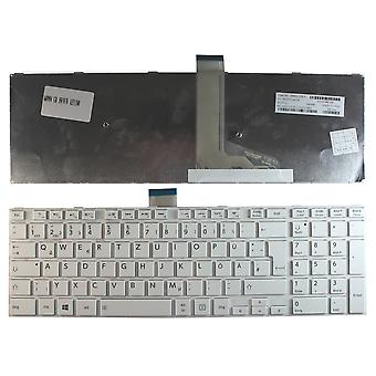 Toshiba Satellite S55DT-A5130 White Frame White Windows 8 German Layout Replacement Laptop Keyboard
