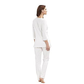 Feraud 3191323-11697 Women's Couture Ivory White Cotton Pyjama Set