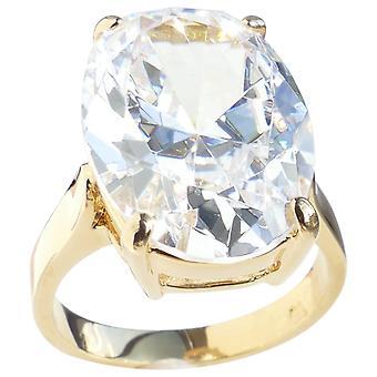 Ah! Jewellery Oval Simulated Diamond Ring