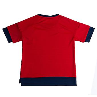 Junior Boys adidas Bayern Munich Pre Match T-Shirt In Navy Red- Layered