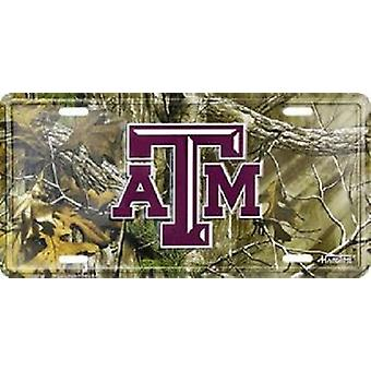 Texas A&M Aggies NCAA Camo License Plate