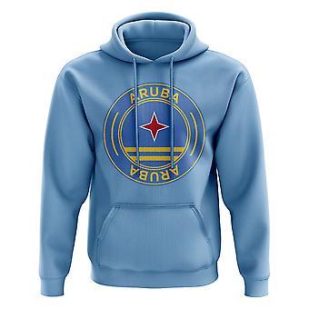 Aruba Football Badge Hoodie (Sky)