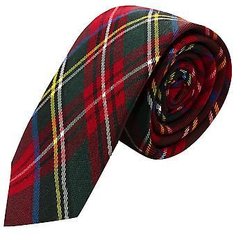 Traditional Red Tartan Check Tie, Necktie, Scotland, Highland, Scottish Look, Stewart Tartan