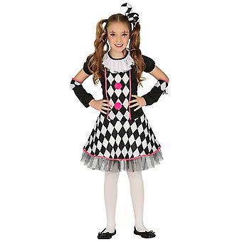 Mädchen Dark Circus Harlekin Halloween Kostüm Kostüm