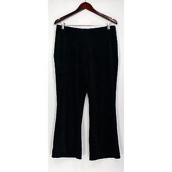 Qualquer pessoa Petite Lounge calças loungewear veludo FLARE preto A297304