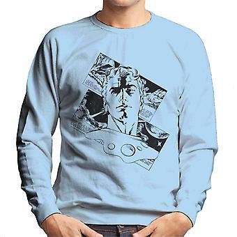 Flash Gordon Comic Head Silhouette Men's Sweatshirt