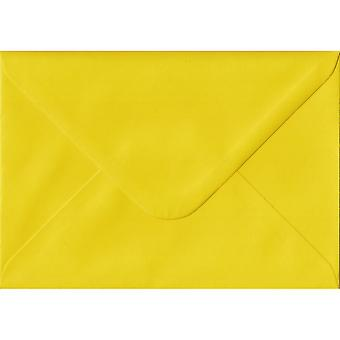 Daffodil Yellow Gummed Greeting Card Coloured Yellow Envelopes. 100gsm FSC Sustainable Paper. 125mm x 175mm. Banker Style Envelope.