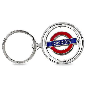 London Underground 'London' Metal Spinner Keyring (gwc)