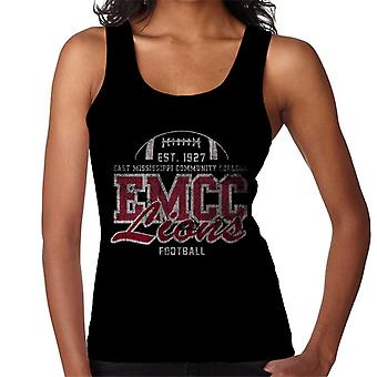 East Mississippi Community College Distressed Lions Football Women's Vest
