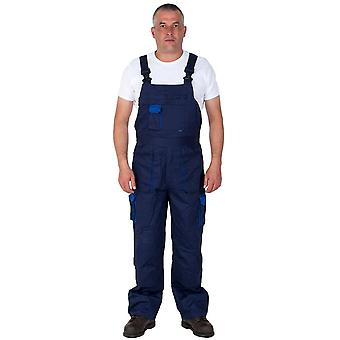 Portwest texo contrast work dungarees -blue