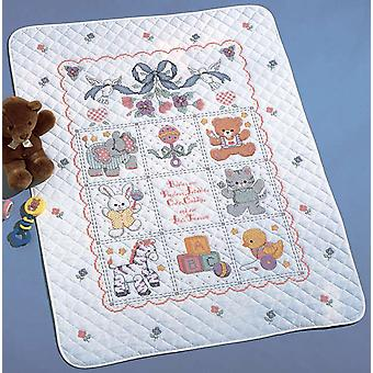 Babies Are Precious Crib Cover Stamped Cross Stitch Kit 34