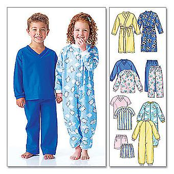 Toddlers' Children's Robe, Belt, Jumpsuit, Top, Shorts And P  Cf 4  5  6 Pattern M6224  Cf0