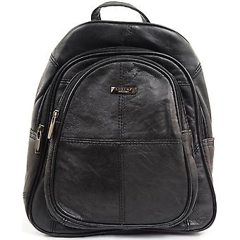 Ladies / Womens Practical Soft Nappa Leather Rucksack / Backpack