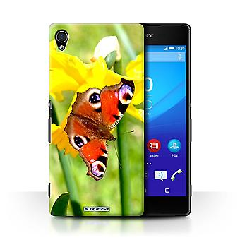 STUFF4 Case/Cover for Sony Xperia Z4v/E6508/Butterfly/Floral Garden Flowers