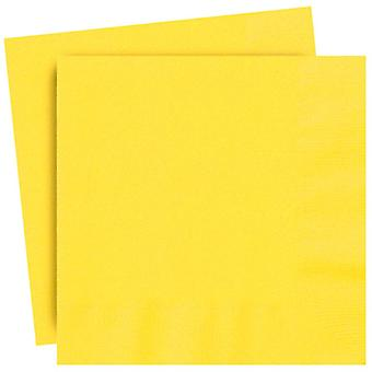 20 Yellow Luncheon Napkins Serviettes Tableware Catering Party Wedding 33cm