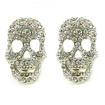 Clip On Earrings Store Crystal Skull Clip On Earringsá