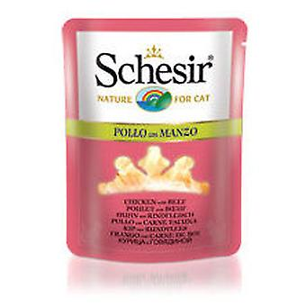 Schesir Chicken with Beef in Jelly (Cats , Cat Food , Wet Food)