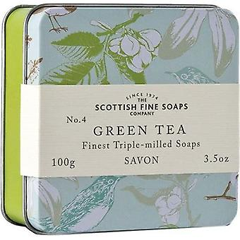 Scottish Fine Soaps Vintage Green Tea Soap Tin