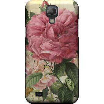 Vintage pink flowers to kill cover Galaxy S4 mini