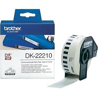 Brother Labels (roll) 29 mm x 30.48 m Paper White 1 Rolls Permanent DK22210 All-purpose labels