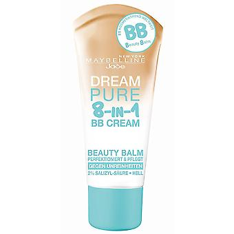 3x Maybelline Dream Pure 8-in-1 BB Cream For Oily Skin SPF15 30ml - Choose Shade