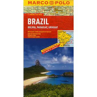 Brazil Bolivia Paraguay Uruguay Marco Polo Map by Marco Polo