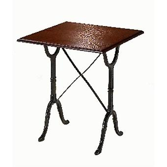 Calt Cast Iron And Wood Table - Square