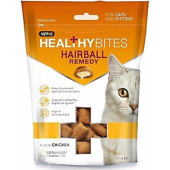 Dyrlægen Iq sund bider Kat Hairball middel behandler 65g (Pack af 8)