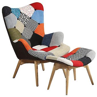 Superstudio Freather Chair And Ottoman Patchwork -