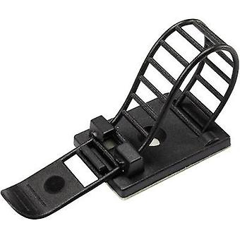 Cable mount Self-adhesive, Screw fixing + strap Black Conrad Components 1206772 WCT-85 25 pc(s)